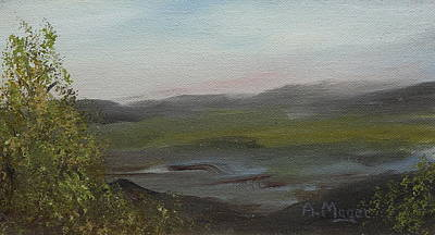 Painting - Distant Mist by Alan Mager