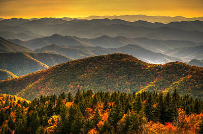 Art Print featuring the photograph Distant Ridges by Serge Skiba