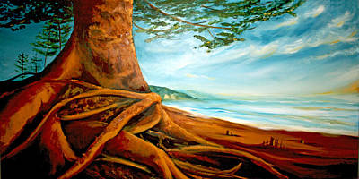 Art Print featuring the painting Distant Shores Rejoice by Meaghan Troup