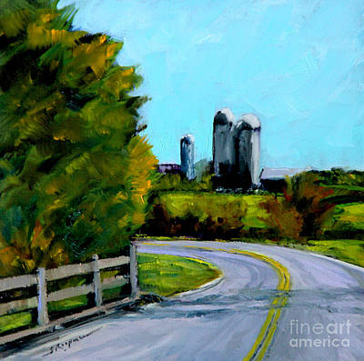 Painting - Distant Silos by Shelley Koopmann