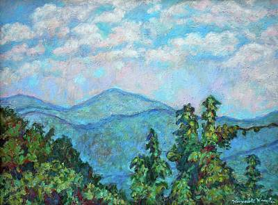 Painting - Distant View Of Peaks Of Otter by Kendall Kessler