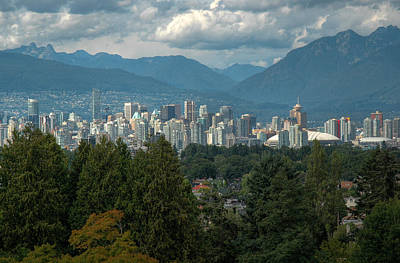 Distant View Of Vancouver British Columbia. Art Print
