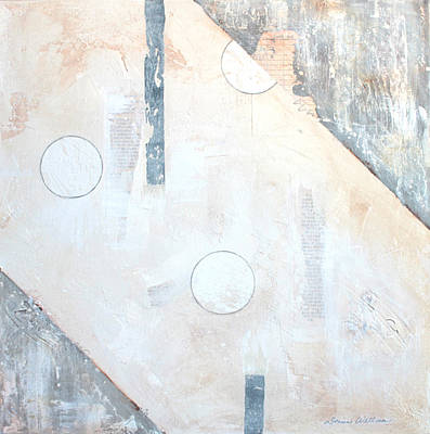 Whitewash Mixed Media - Distant Worlds I by Donine Wellman