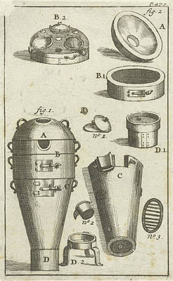 Distillation Device, And Different Parts Separately Art Print