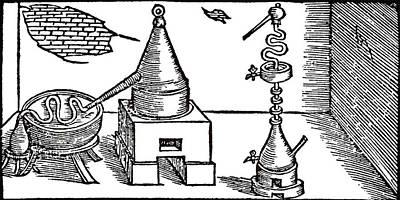 Distillation Of Alcohol (aqua Vitae) Art Print