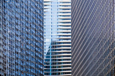 Aqua Condominiums Photograph - Distinctive Hotel Between Skyscrapers by Steven Heap