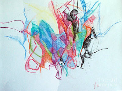 Conceptual Abstraction Drawing - Distinguishing Value 1 by David Baruch Wolk