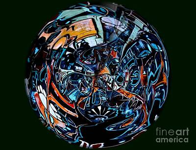 Distorted Earth - No.8345 Art Print by Joe Finney