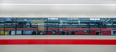 Distort Photograph - Distorted Reflections On Ice Train by Panoramic Images