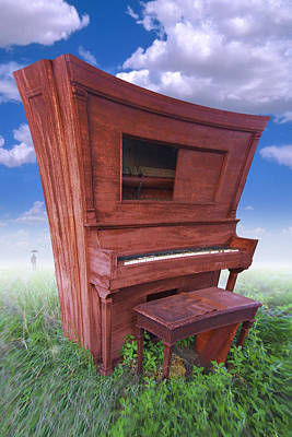 Piano Photograph - Distorted Upright Piano by Mike McGlothlen