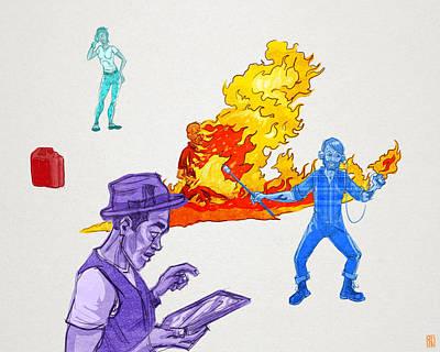 Distracted Art Print by Baird Hoffmire