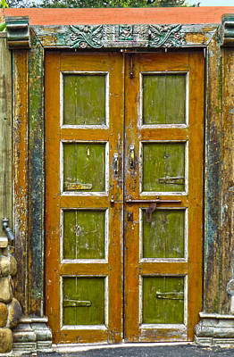 Photograph - Distressed Door by Marie Morrisroe