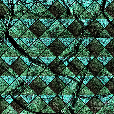 Cracks Digital Art - Distressed Geometric Pattern by Gaspar Avila