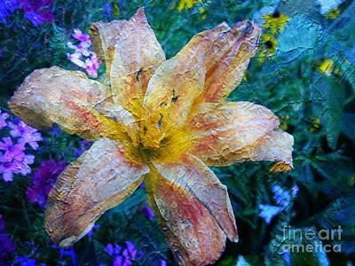 Distressed Lily Art Print