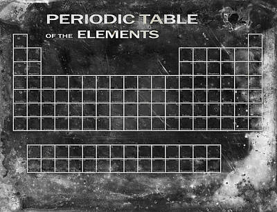 Labs Digital Art - Distressed Periodic Table by Daniel Hagerman