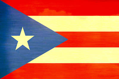 Distressed Puerto Rico Flag Art Print by Dan Sproul