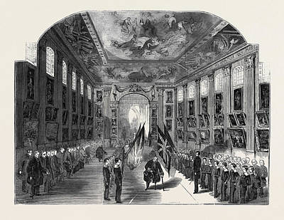 Distribution Of The Nelson Medals, In The Painted Hall Art Print