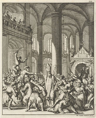 Distribution Of The Sacred Fire During Easter In The Holy Art Print