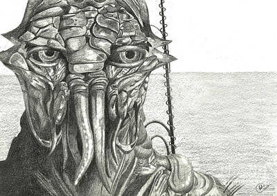 Drawing - District 9 by Kate Black