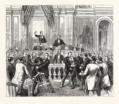 District Of Columbia Members Of Congress Endeavoring Art Print by American School