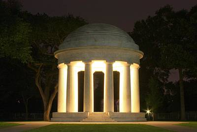 Photograph - District Of Columbia World War I Memorial At Night by Karen Saunders