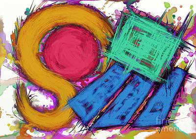 Loose Style Digital Art - Disturbance by Keith Mills