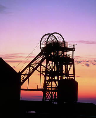 Disused Pit Head In Whitehaven Art Print by Martin Bond/science Photo Library