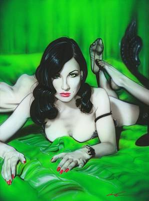 Burlesque Painting - ' Dita Von Teese ' by Christian Chapman Art