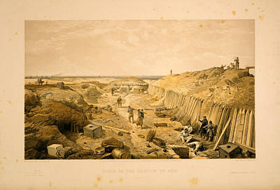 3-57 Drawing - Ditch Of The Bastion Du Mât  W. Simpson Del.  E. Walker by Litz Collection