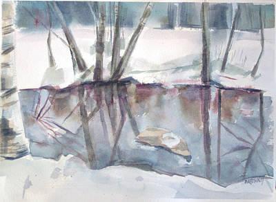 Ditch Pool April Print by Grace Keown