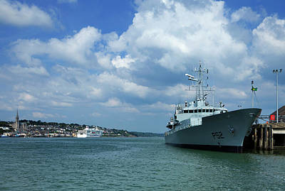 Frigates Photograph - Ditsant Ferry Passing Cobh by Panoramic Images