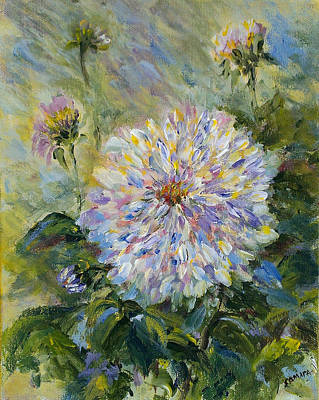 Painting - Diva Dahlia by Laurie Samara-Schlageter
