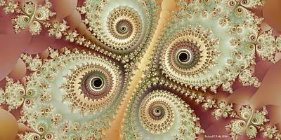 Pearlescent Digital Art - diva Matidia by Richard Kelly