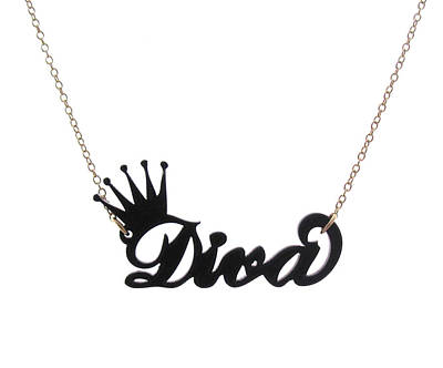 Perspex Necklace Jewelry - Diva Pendant Necklace by Rony Bank