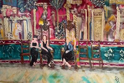 Divas Of Wine At The Great Hall Art Print