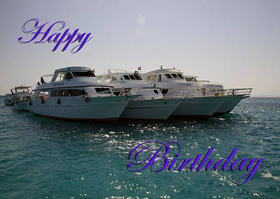 Martinspixs Photograph - Dive Boats Happy Birthday by Martin Matthews