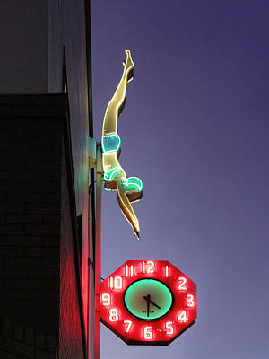 Photograph - Dive In Retro Neon by Kathleen Grace