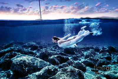 Photograph - Dive In Sunset Time by Anna Om