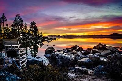 Diver's Cove Lake Tahoe Art Print