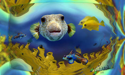 Digital Art - Diver's Perspective by Vincent Autenrieb