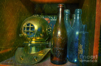 Old Brown Bottle Photograph - Diver's Treasure by Paul Ward