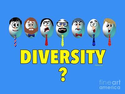Digital Art - Diversity by Laura Toth