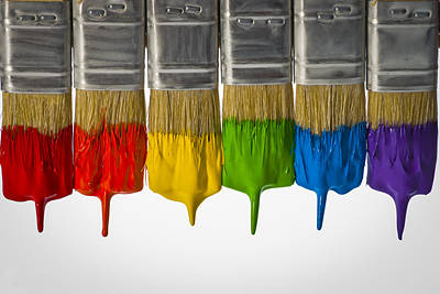 Photograph - Diversity Paint Brushes Horizontal  by Don McGillis