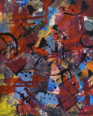 Painting - Divertimento No.19 by Alexandra Jordankova
