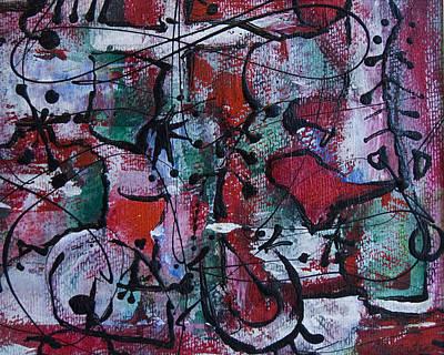 Painting - Divertimento No.3 by Alexandra Jordankova