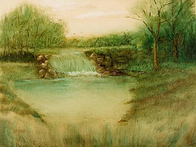 Painting - Impressionistic Landscape - Diverting The Flow by Barry Jones