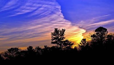 Divided Sky Art Print by Susan Leggett