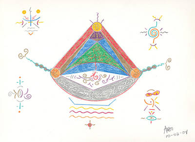 Drawing - Divine Balance by Mark David Gerson
