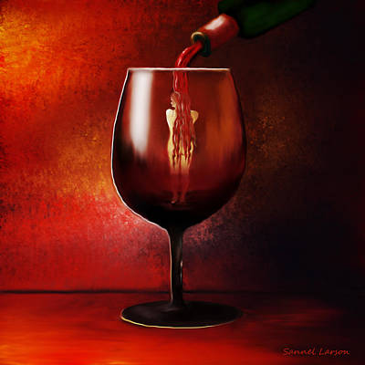 Pouring Wine Digital Art - Divine Beauty by Sannel Larson