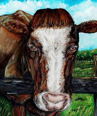 Maine Farms Painting - Divine Bovine by Shana Rowe Jackson